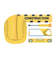 construction equipment design vector image vector image