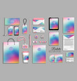 corporate identity template set with abstract vector image vector image