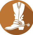 Cowboy Boot Icon vector image