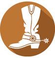 Cowboy Boot Icon vector image vector image