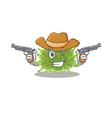 cute handsome cowboy haploviricotina with guns vector image vector image