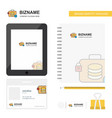 database briefcase business logo tab app diary vector image vector image