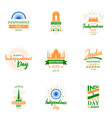 design templates set for independence day vector image