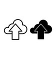 download in cloud line and glyph icon cloud with vector image vector image