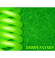 ecological lightbulbs on a green background vector image