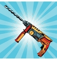 Electric hammer drill is a professional tool for vector image