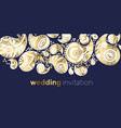 elegant luxury paisley for wedding invitation vector image