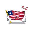 falling in love cute flag liberia scroll cartoon vector image vector image