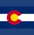 flag state colorado vector image vector image