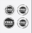 free delivery stamp 2 vector image vector image
