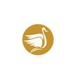 goose logo template vector image vector image