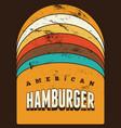 hamburger typographical vintage grunge poster vector image vector image
