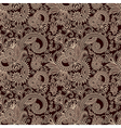 hand draw ornate seamless flower paisley design ba vector image vector image