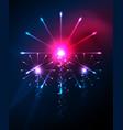 happy independence day 4 july fireworks design vector image