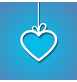 heart paper blue vector image vector image