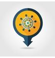 Helm pin map flat icon Summer Marine vector image