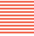 horizontal red and white stripes seamless vector image vector image