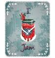 I Love Jam Vintage Advertisement Poster Concept vector image