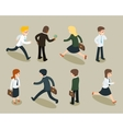 Isometric cartoon businessmen and business women vector image vector image