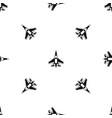 jet fighter plane pattern seamless black vector image vector image