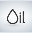oil typographic concept symbol of a drop isolated vector image