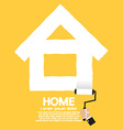 Paint Roller Home Concept vector image vector image