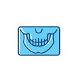 panoramic x-ray jaw icon dental panoramic teeth vector image vector image