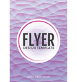 Pastel modern purple polygonal brochure flyer vector image