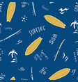 pattern seamless texture of blue surfboards with vector image vector image