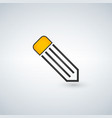 pencil line icon on a white background vector image vector image