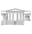 propylea restored temple of nike apteros vintage vector image vector image