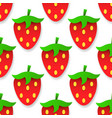 seamless background with strawberries for your vector image vector image