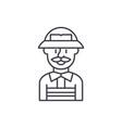 service engineer line icon concept service vector image vector image