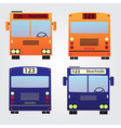 set of color buses eps10 vector image