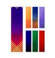 set of geometric vertical banners luxury vector image