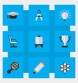 set of simple knowledge icons elements easel vector image vector image