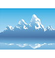snow mountain reflection vector image vector image