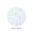 social media abstract gradient linear concept vector image