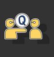 sticker logo quora website icon social media vector image vector image