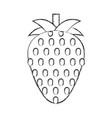 strawberry fresh fruit isolated icon vector image vector image
