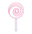 sweet candy cane swirl round vector image vector image