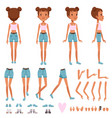 teenager girl character constructor creation set vector image