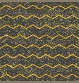 tile pattern with dark grey and gold stripes vector image vector image
