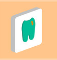 tooth computer symbol vector image