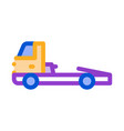 tow cargo truck icon outline vector image vector image
