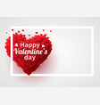 Valentines day background with red 3d hearts cute