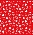 valentines day seamless patterns vector image vector image