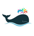 whale with multicolored blow spout vector image