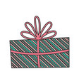 wrapped gift box decoration party icon vector image vector image