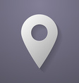 Icon of map pointer Paper style vector image